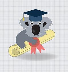 Animala koala graduation icon vector