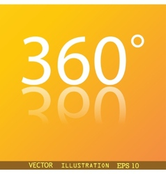 Angle 360 degrees icon symbol flat modern web vector