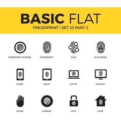 Basic set of fingerprint icons vector