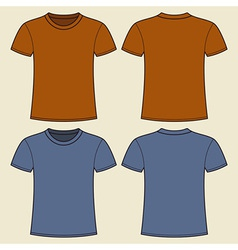 Blank t-shirt template Front and back vector image vector image