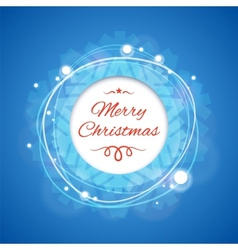 Blue merry christmas banner vector