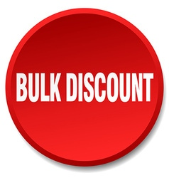 Bulk discount red round flat isolated push button vector