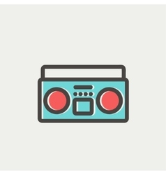 Cassette player thin line icon vector image vector image