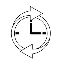 clock with arrows icon image vector image