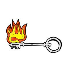 comic cartoon hot key vector image vector image