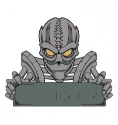 Cyborg banner template vector