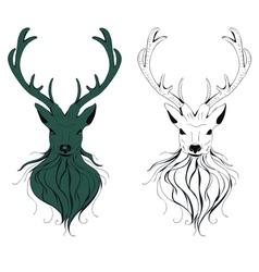 Deer Head3 vector image