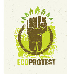 eco protest creative green poster concept organic vector image vector image