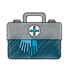First aid suitcase vector