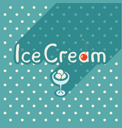 flat style posters with ice cream vector image vector image
