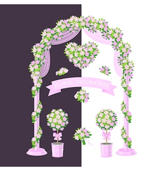 Floral decoration pink vector
