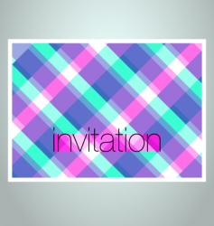 invitation cover vector image vector image