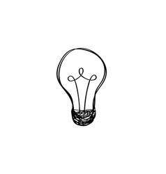 Lamp bulb isolated over white background light vector