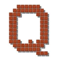 Letter q made from realistic stone tiles vector