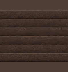 natural dark wooden boards background eps 10 vector image