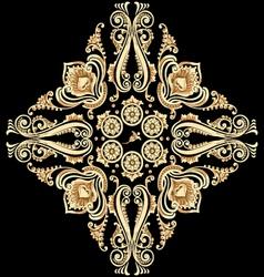 Ornamental floral motif vector image vector image