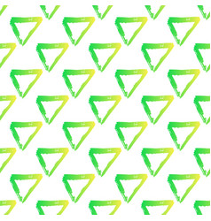 Seamless pattern with brush triangles vector