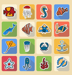 Set of colored icons inhabitants of the vector