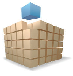 shipping boxes puzzle vector image