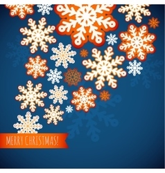 Snowflake winter blue background christmas paper vector