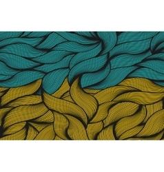Ukraine flag patternvintage style vector image