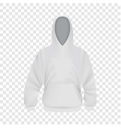 white hoodie mockup realistic style vector image vector image