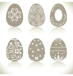 Abstract Easter eggs set with ornaments vector image