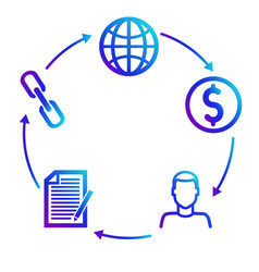 Scheme of earnings on partner affiliate programs vector