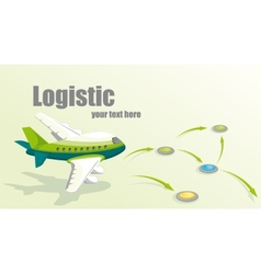 With plane logistic concept vector