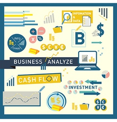 Money finance business analyze icon design vector