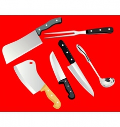 Cooking utensils vector