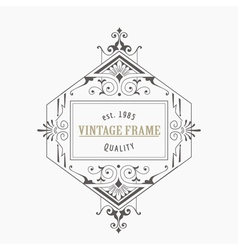 Vintage frame - monogram or calligraphic design vector