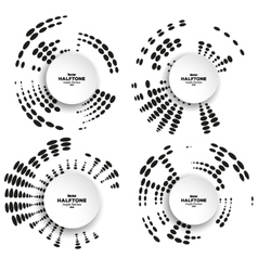 Set of circle halftone elements for your vector image