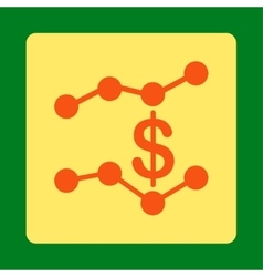 Sales trends icon vector