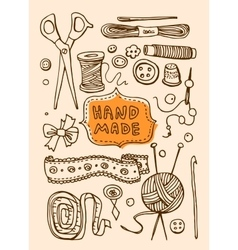 Hand made stuff vector