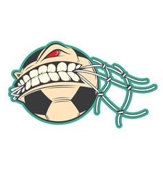 Crazy soccer sticker vector