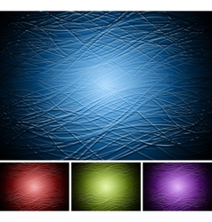 Set of abstract dark backdrops vector