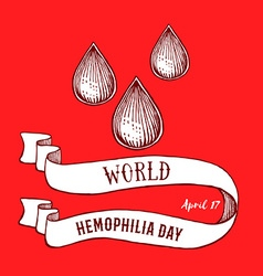 World hemophilia day poster vector