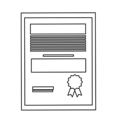 Diploma degree icon vector