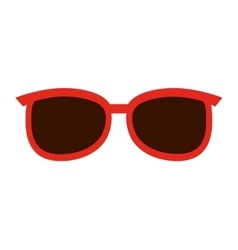Sunglasses fashion isolated icon design vector