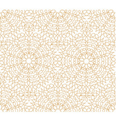 abstract floral line oriental tile pattern arabic vector image