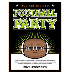 American football party invitation template vector
