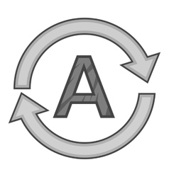Automatic translation icon gray monochrome style vector