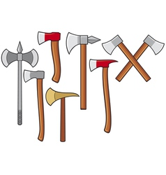 axes collection vector image vector image