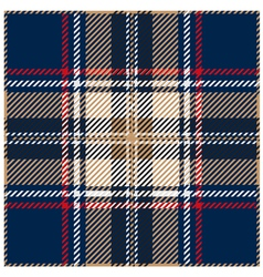 Blue Seamless Tartan Design vector image
