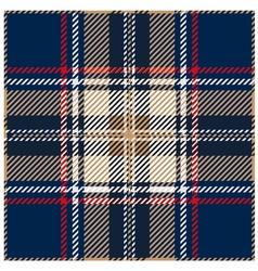 Blue seamless tartan design vector