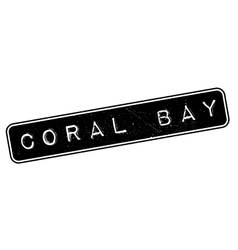 Coral bay rubber stamp vector