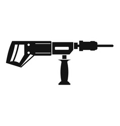 Electric drill perforator icon simple vector