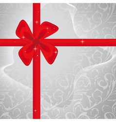 festive gift vector image vector image