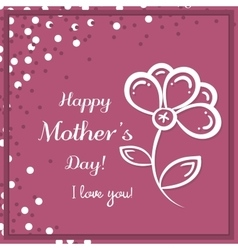 Flower Mothers Day Pink vector image vector image